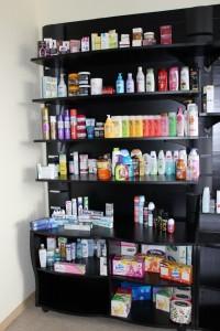 Etagere magasin parfumerie