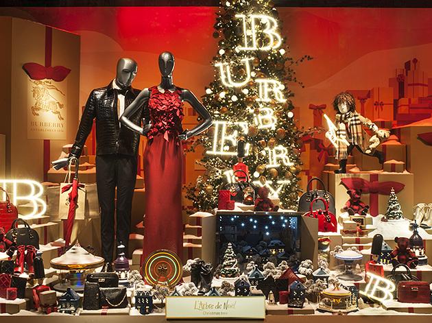 Décoration de vitrine au Printemps pour Noel 2014